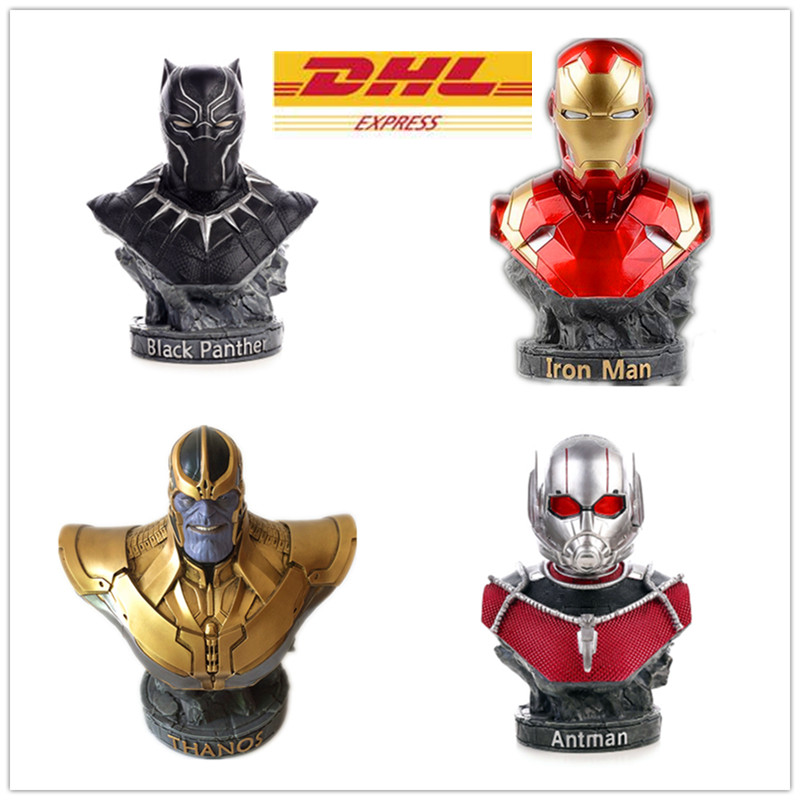 Marvel Movie Guardians of the Galaxy 3 Infinity War Thanos Iron Man Ant-man Black Panther Resin Bust Home Decoration Model marvel avengers statues ironman ant man thanos black panther action figure home decoration gift ant man antman iron man statue