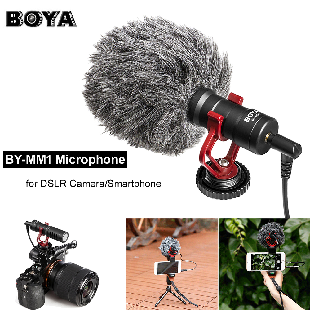 BOYA BY-MM1 Compact On-Camera Video Recording Microphone Mic For Nikon Canon Sony A7 DSLR Camera/Smartphone/Camcorder/Tablet Mac