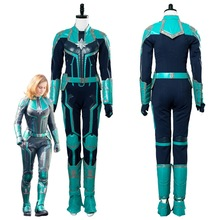 Captain Marvel Carol Danvers Cosplay Costume Outfit Adult Women Halloween Carnival Cosplay Costumes