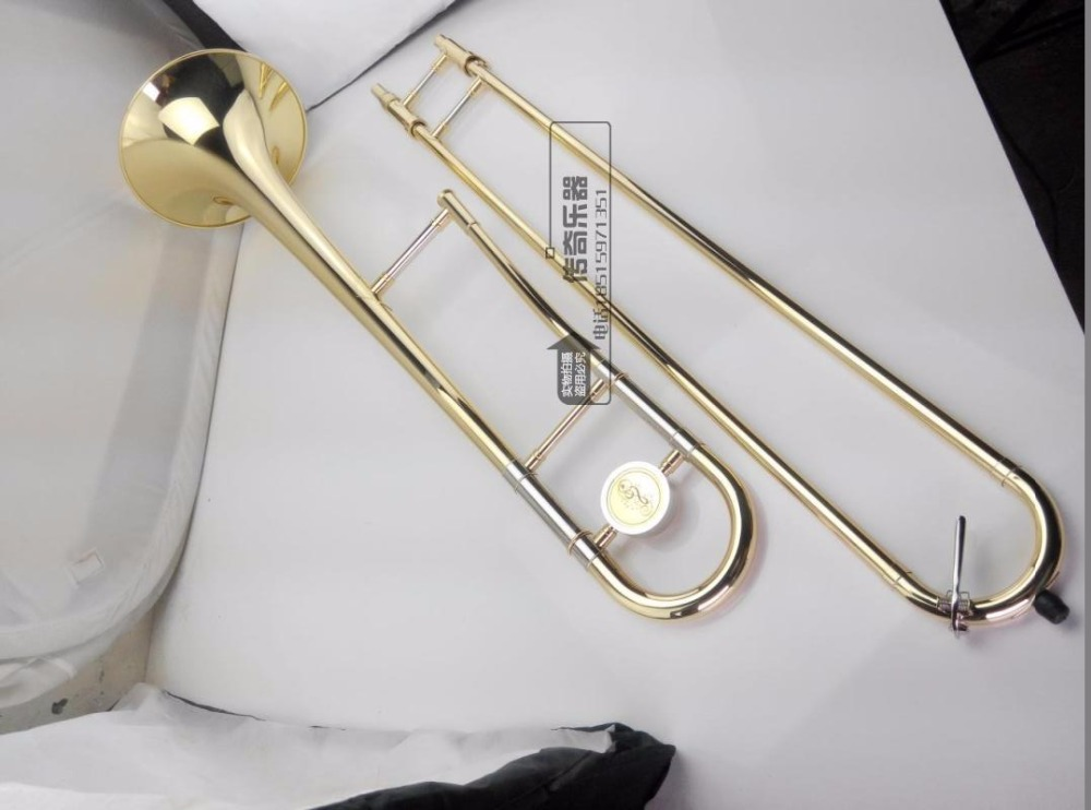 Free shipping Bach tenor trombones instruments B flat trombone instrument musical high-quality Played trombone performance selmer of france b flat tenor sax instruments shipping professional performance suitable for beginners