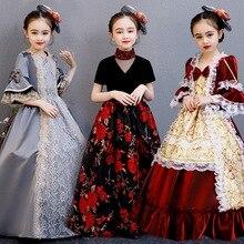 Готическое платье в стиле Лолиты; платье в викторианском стиле; милые костюмы принцессы в стиле Лолиты; Детские костюмы для костюмированной вечеринки в стиле Лолиты; костюмы на Хэллоуин для девочек