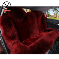 KAWOSEN Australian Pure Natural Wool Seat Cover for Rear Seat,12 Colors Winter Car Cushion, Rear Vehicle Cover WSCR01