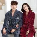 Coral Fleece Couples bathrobe sets thick flannel bathrobe winter autumn thickening terry women cotton pajams men chinese kimono