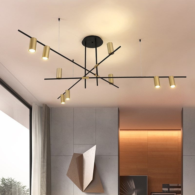 Nordic post-modern creative pendant lamp simple bar living room dining room bedroom personality pendant lights nordic modern 6 arm pendant light creative steel spider pendant lamps unfoldable living room dining room lamp e27 led lamp