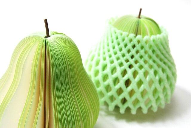 [Gratis frakt] söt anteckningsblock i kiwifrukt form, frukt anteckningsblock 10pcs / lot