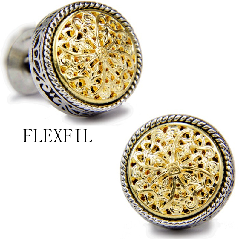 Sparta style shirt cufflink for mens designer Gold silver Cuff link Button male High Quality Luxury