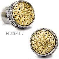 Sparta style shirt cufflink for mens designer Gold & silver Cuff link Button male High Quality Luxury Wedding Free Shipping