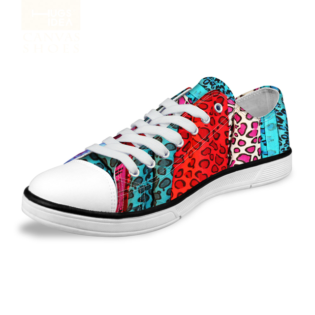 Leopard Print Fashion Women Low-top Canvas Shoes High Quality Student Girls Casual Shoes Comfortable Classic Style Female Shoes