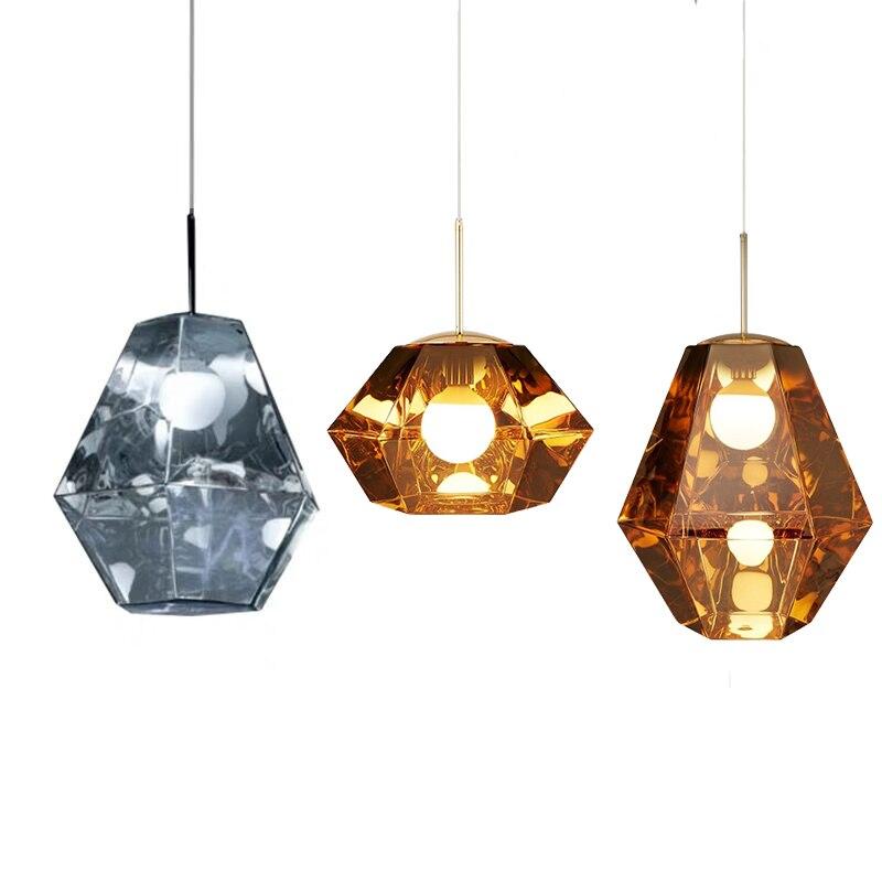 BDBQBL 30*30 cm/30*17 cm lampe à suspension en cristal en métal 110 V/220 V-240 V LED chambre à coucher lampes suspendues moderne salon Restaurant Hanglamp