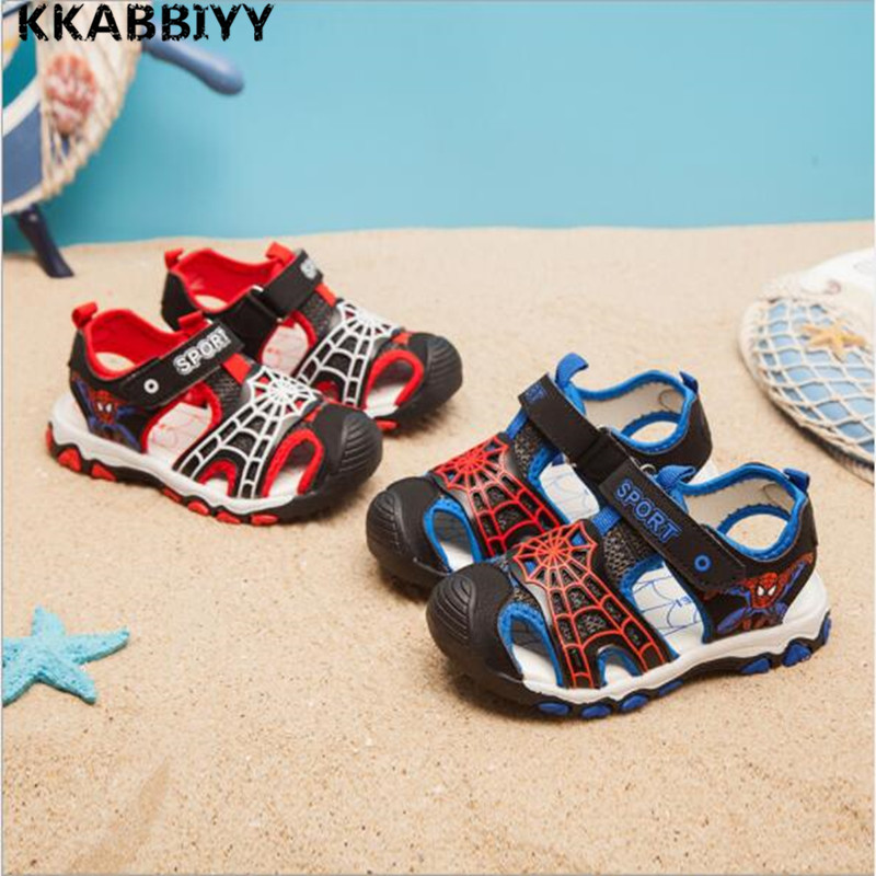 2018 Summer New Style Children Shoes Boys Fashion Cut-outs Sandals Kids Canvas Rain Sandals Breathable Rubber Flats Shoes