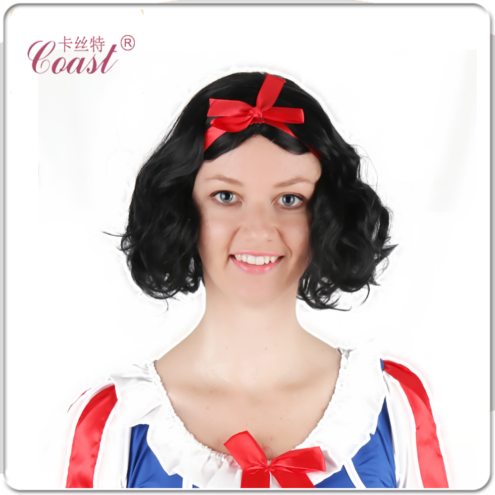 snow white princess cosplay wig black curly queen hair products