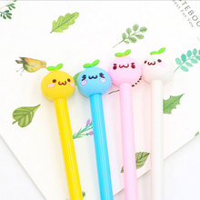 4 Pcs / lot Creative 0.5mm Bean sprouts gel pen Kawaii students Writing Neutral pens Stationery Office school supplies