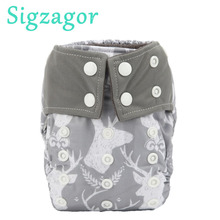 Pocket-Cloth Diapers Bamboo-Insert Sigzagor Charcoal Newborn Nappy Infant Baby 10 8-10lbs
