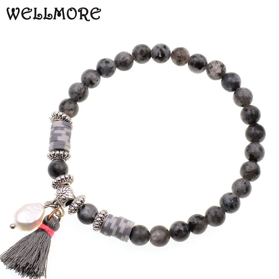 WELLMORE 6MM beaded bracelets Natural stone beads bracelets for women faishion jewelry drop shipping wholesale