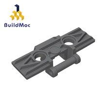 Buildmoc monta partículas 57518 88323 ligação de alta tecnologia piso largo com blocos de construção peças diy elétrica educa