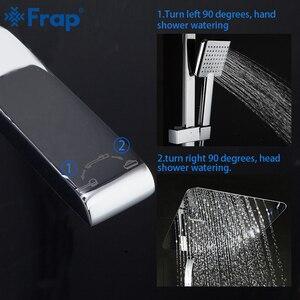 Image 4 - FRAP ห้องน้ำชุดก๊อกน้ำอ่างอาบน้ำก๊อกน้ำ Shower TAP อาบน้ำก๊อกน้ำหัวฝักบัวชุด Mixer torneira