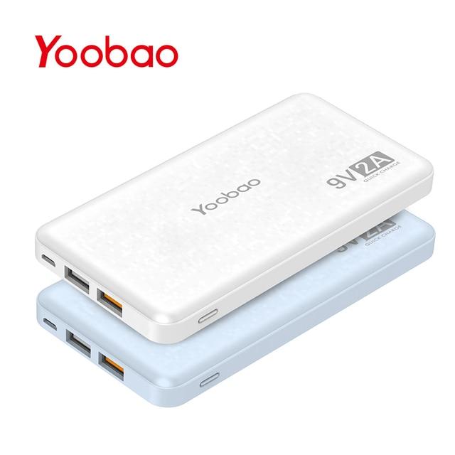 Yoobao Q12 Quick Charge 12000mAh Portable External Battery 5V/9V/12V USB Dual Mobile Powerbank for iPhone Samsung Xiaomi LG