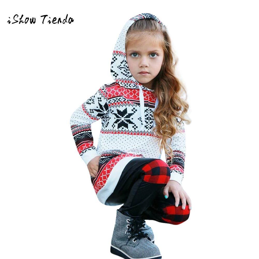 sweatshirt Girls Christmas  clothing Toddler Kids Baby Girl Cotton Stripe Hoodie Sweatshirt Pullover Tops Christmas Clothes