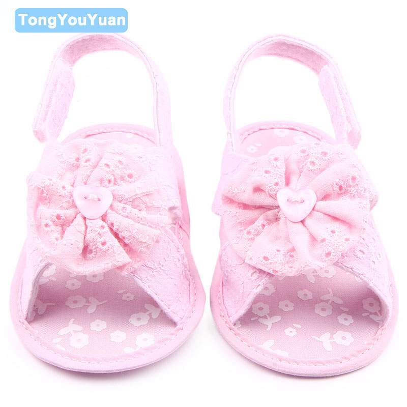 Beautiful Flower Design 5 Colors Cotton Newborn Infant Baby Girl Sandals Shoes 0-15 Months