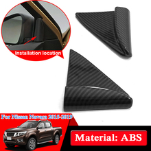 Car Styling ABS Chrome For Nissan Navara NP300 D23 2017-2019 Inner triangle Sequins Internal Decorations Cover Car Stickers