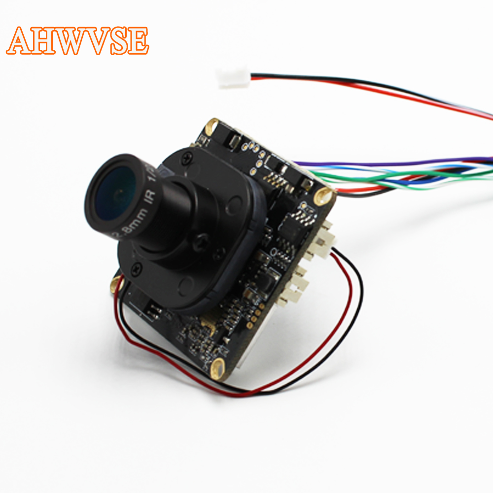 AHWVSE Hi3516C+IMX322 1080P 25Fps IP camera module board 2.8mm Lens 720P 960P CCTV with LAN cable 16mm lens ONVIF P2P indoor