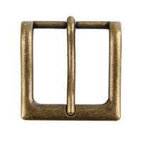 Senmi Mens Single Prong Rectangular Solid Belt Buckle Nickel Free Suitable For Snap Fit Belts 1