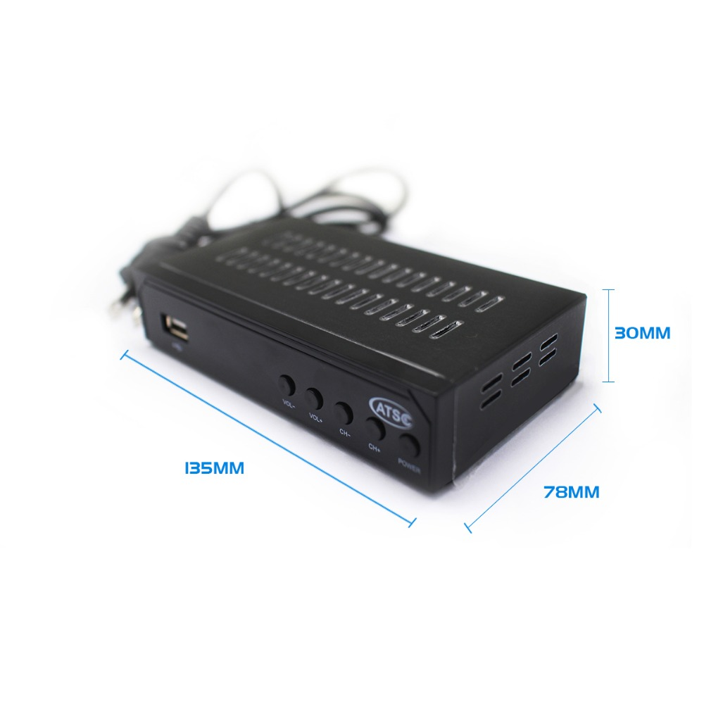 Image 3 - Vmade Fully HD Digital DVB ATSC Terrestrial TV Receiver Tuner Support MPEG 2/4 H.264 HD 1080p Set Top Box for Mexico USA Canada-in Satellite TV Receiver from Consumer Electronics