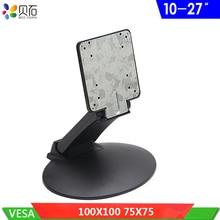 للطي شاشات كريستال بلورية الجدول حامل قابل للتعديل حامل تليفزيون حامل مكتب قوس ل 10  27 التلفزيون مع VESA حفرة 75x75 مللي متر 100x100 مللي متر