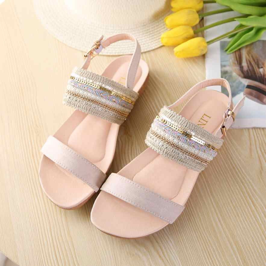 392a0656a30 Women Bohemia Slippers Flip Flops Flat Sandals Toe Beach Gladiator Ankle  Shoes 2018 Open Toe Lace