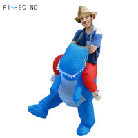 Halloween Blue Dinosaur Inflatable Costume Animal Cosplay Funny Cartoon 90 190cm Outfit Adult Kid Girl Boy Outfit Carnival Suit