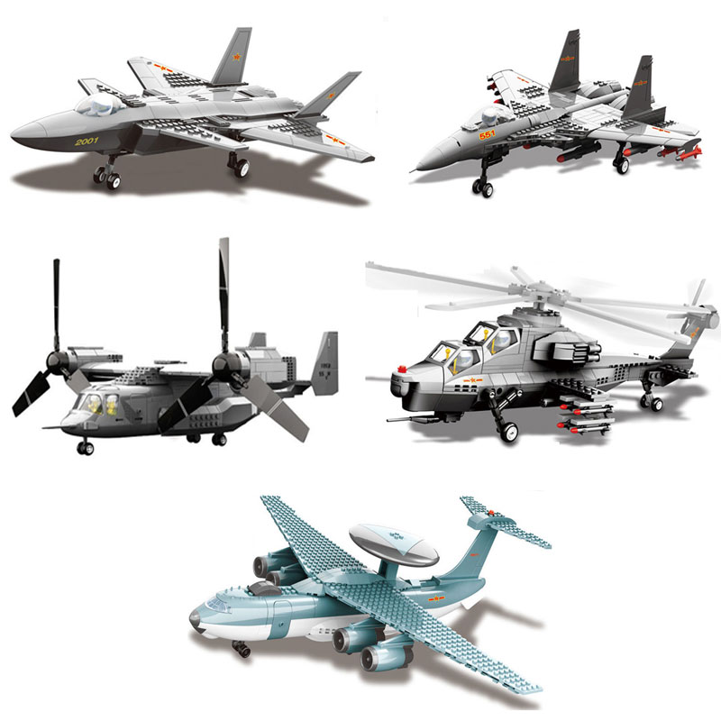 wange f 15 eagle fighter plane building blocks kit military army set models Military Army Series Fighter Aircraft Model J15/J20/ WZ10 /KJ2000/ The V22 Osprey Tiltrotor Fighter Models Building Blocks Brick