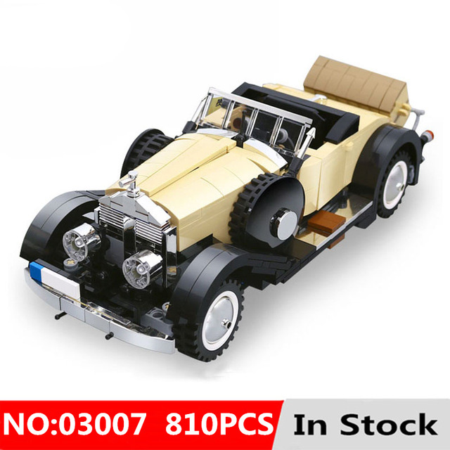 810pcs Creative Moc Technic Series The Rolls Royce Noble Set Educational Building Blocks Model