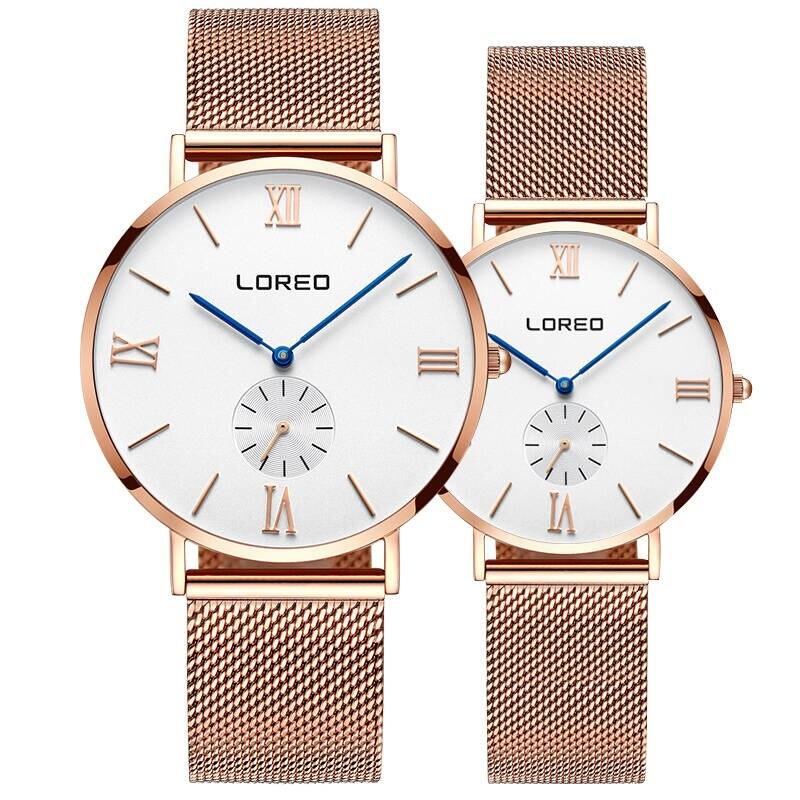 LOREO 5108 Germany bauhaus watches lover luxury brand newest rose gold diamond sapphire 30m water resistant ultra-thin bauhaus