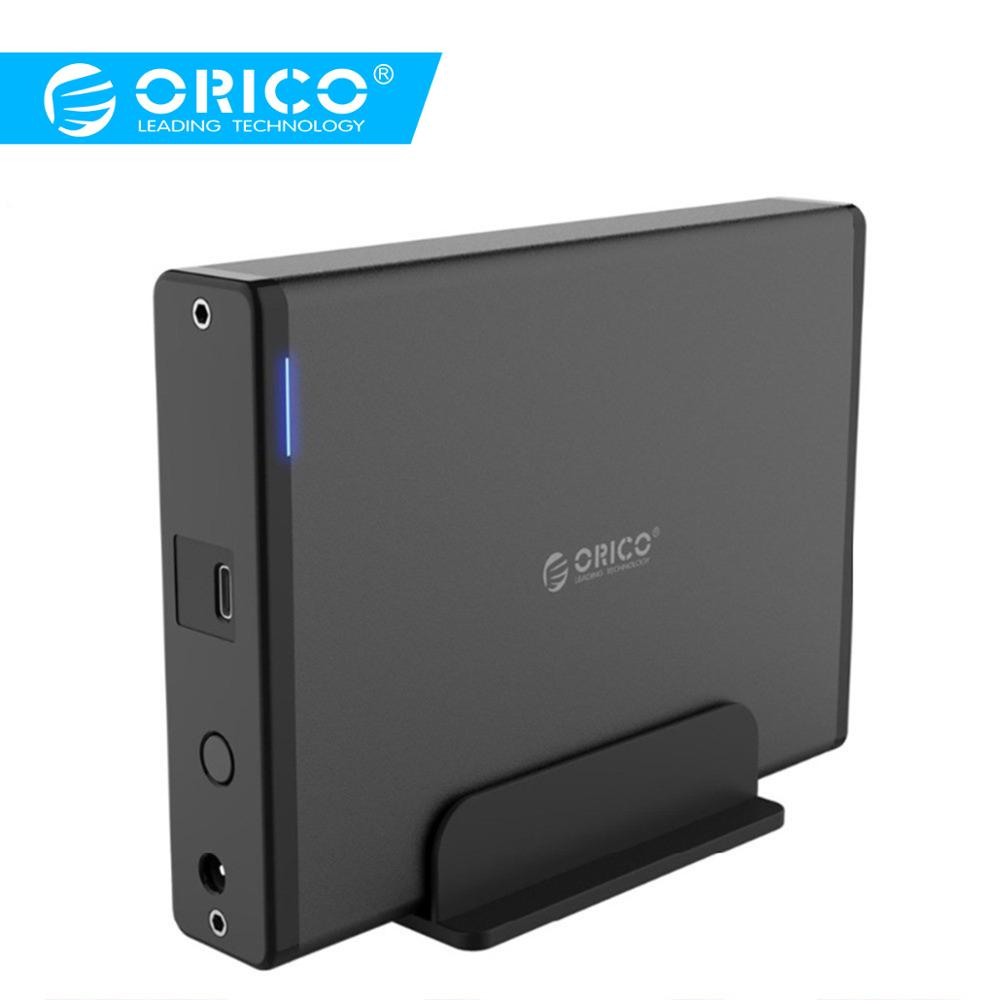 ORICO Aluminum 3.5 Inch Type-C USB3.1 To SATA3.0 External Case HDD SSD Hard Drive Disk Enclosure Dock Storage Box 5GBPS 8TB
