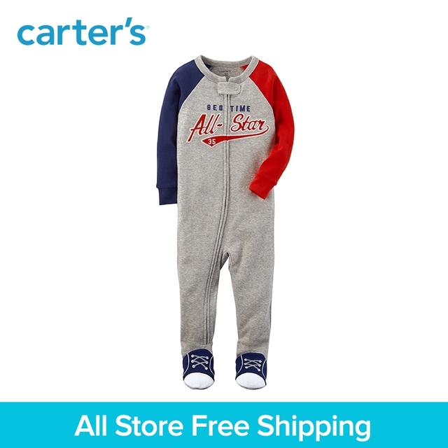 06f66c4ed All-Star Baseball foot Footies Pajamas Snug Fit Cotton Carter's Baby Boy  clothing Spring Fall 13468910