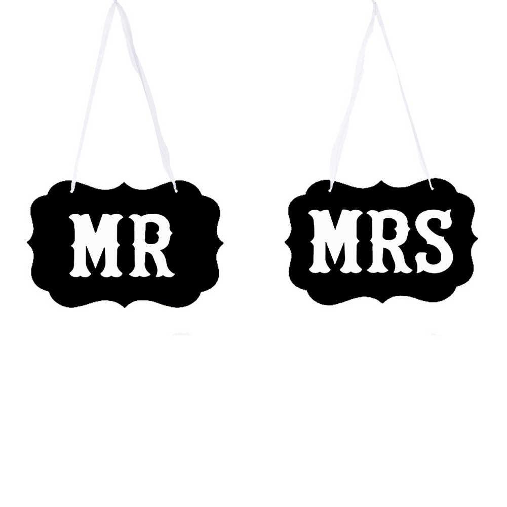 1 пара Стильный многофункциональный реквизит для фотосессии стул знаки бумага висячие свадебное украшение в деревенском стиле универсальная Праздничная Mr Mrs Booth поставки
