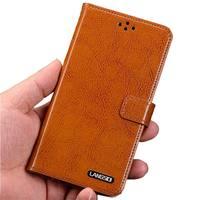 高品質本革フリップスタンドストラップカバー用ソニーのxperia sp m35h c5302 c5303 c5306ストラップ携帯電話バッグケー