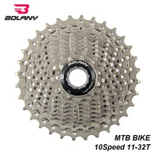 BOLANY Bike MTB Cassette 10 Speed Gear Ratio 11-32T Bicycle Freewheel Mountain Sprocket Parts Accessories