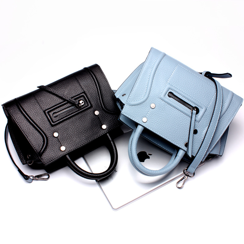 Stil 2017 Frauen echtes Top Bolsa Qualität Rindleder Blue Purple Bags Feminina Messenger Hohe Mädchen Leder Lolita Für Mode black brown light Handtasche Verkauf 6TnEwEdqf
