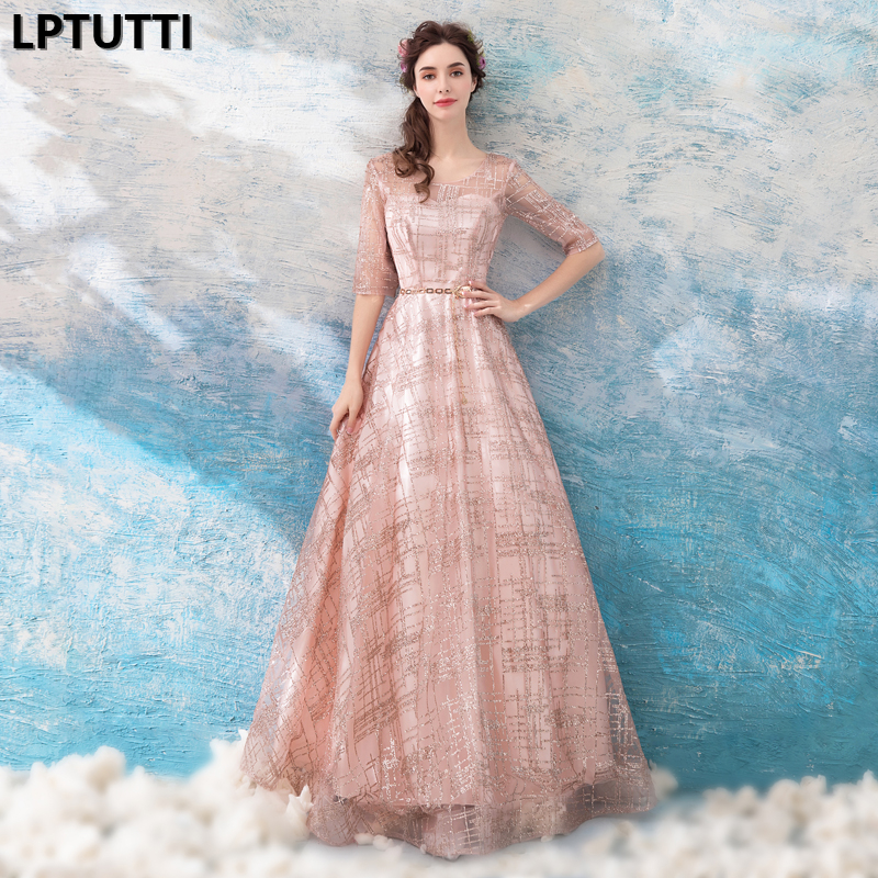 LPTUTTI Sequin New For Women Elegant Date Ceremony Party Prom Gown Formal Gala Events Luxury Long Evening Dress