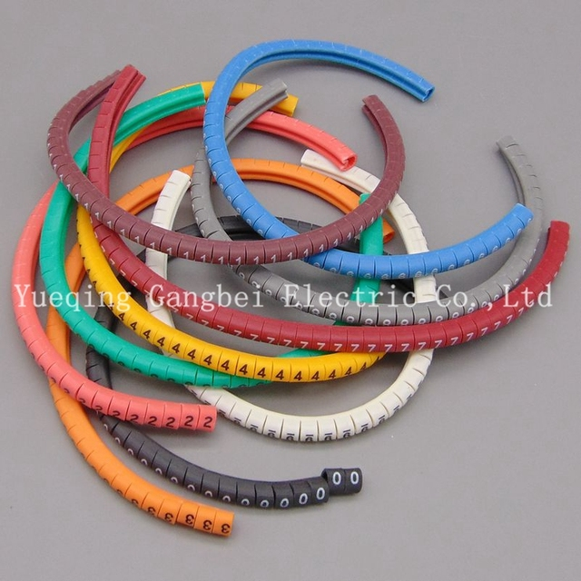 Color number tube EC 0 1.5mm Cable Wire Markers Letter 0 to 9 X ...