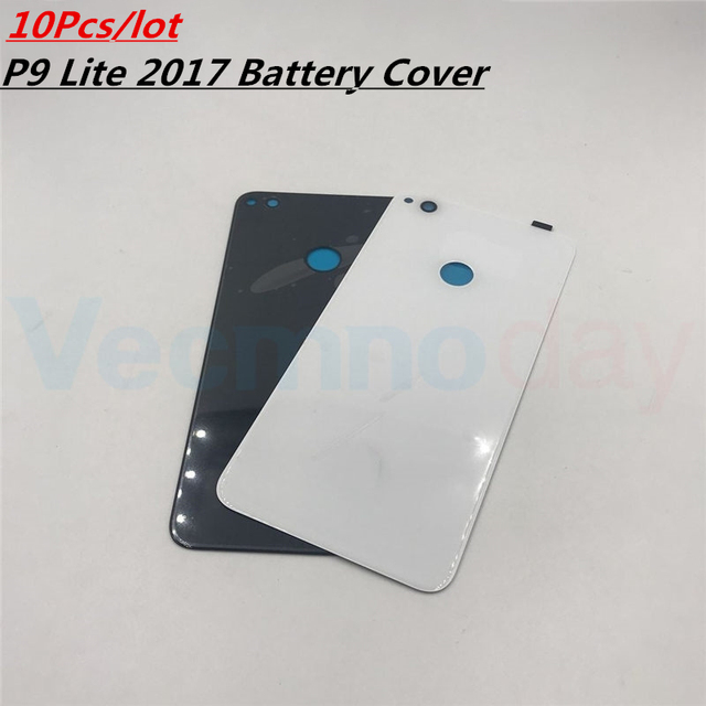 Vecmnoday 10Pcs/lot For Huawei P9 lite 2017 PRA-LX1 PRA-LX3 Battery Cover Door Housing Case Rear Glass Replacement Repair Parts