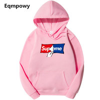 Winter Autumn Hip Hop Hoodies And Sweatshirts Suprem Letter Printed Hoodies Men Pullover Outerwear Brand Clothing