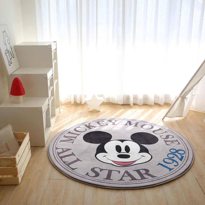 Черно-белый коврик с Микки и Минни Маус, детский коврик для ползания, мягкий детский коврик для йоги