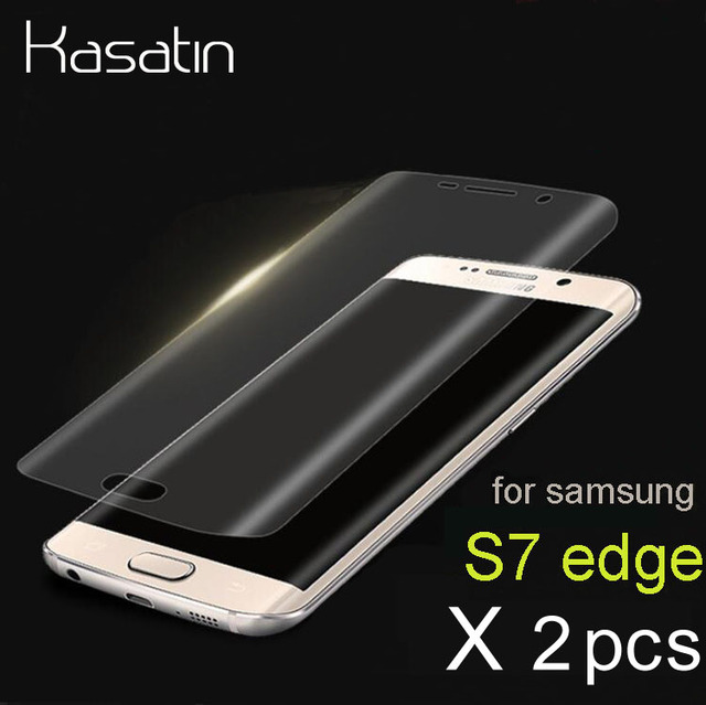S7 edge Clear Transparent Curved 3D Full Cover Screen Protector for Samsung...