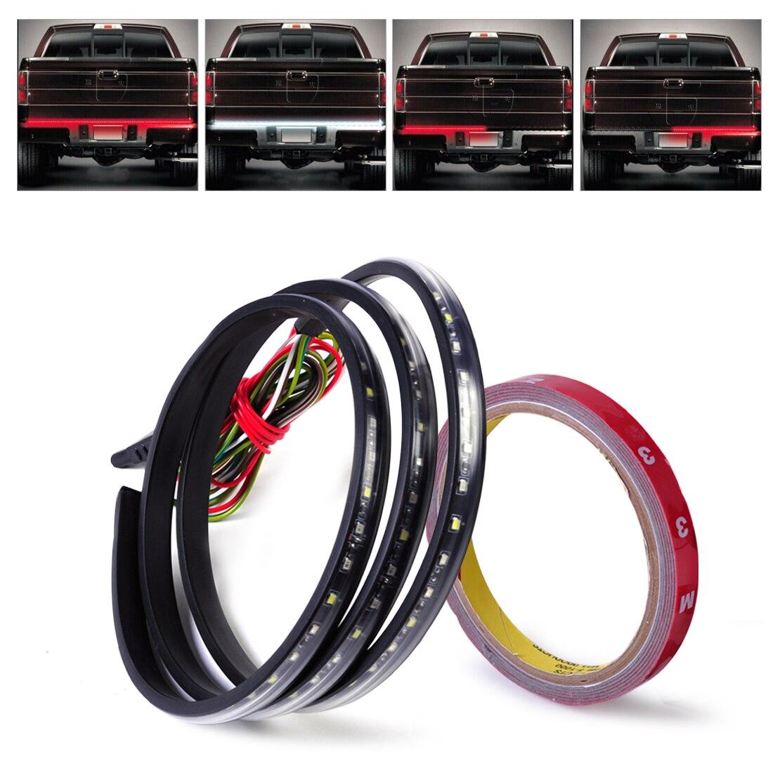 DWCX 60 дюймов 4-Функция 12 В красный, белый багажника 108 Светодиодные ленты свет бар обратный тормоз указатель поворота для honda грузовик внедоро...