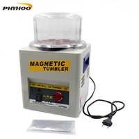 Máquina pulidora magnética giratoria KT 185 máquina de limpieza ewelry borde de Metal eructa y elimina manchas 220/110 V