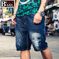 Bermuda Masculina Skull Print Jeans Shorts Men Big Size 4XL 5XL 6XL Men's Summer Shorts 2016 Male Denim Shorts Homme Jean 533