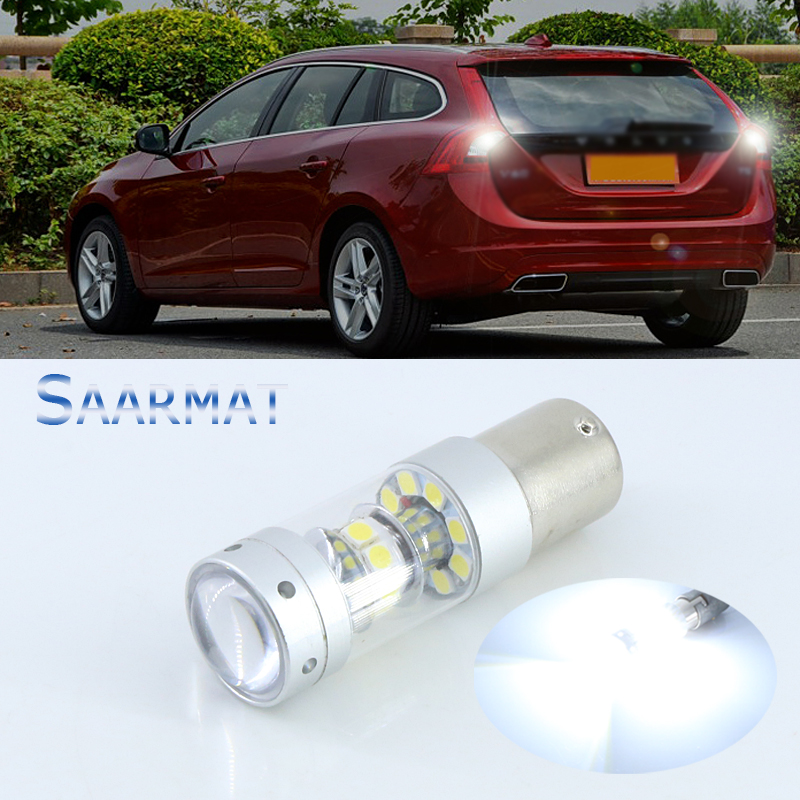 1x  Error Free Super Bright  6000K White  LED Bulbs For Backup Reverse Light 1156  For  Volvo xc90 xc60 v70 s80 s40 v60 c30 v50 2 x error free super bright white led bulbs for backup reverse light 921 912 t15 w16w for peugeot 408