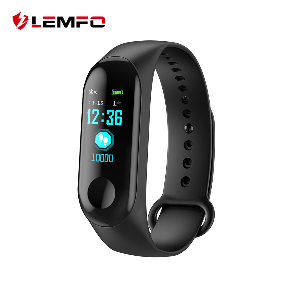 LEMFO M3 Plus Color IPS Screen Smart Sport Fitness Bracelet IP68 Waterproof Blood Pressure Oxygen Activity Tracker PK Mi Band 3